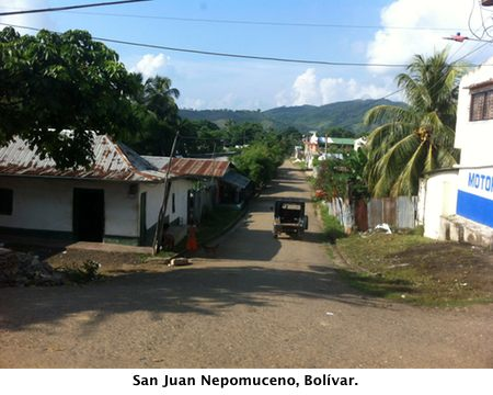 View of San Juan Nepomuceno, Bolvar